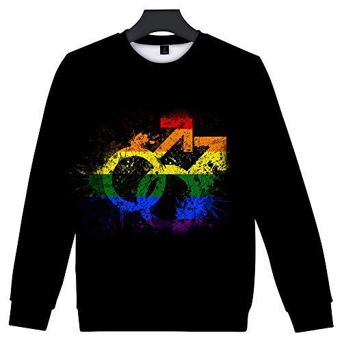 t, schwul lesbischen Pride Hoodie Rainbow Langarm Sweatshirt für Männer/Frauen ()