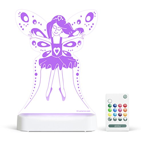 Aloka SleepyLight Fairy Princesse Veilleuse Multi LED de Couleur avec Télécommande pour Enfants