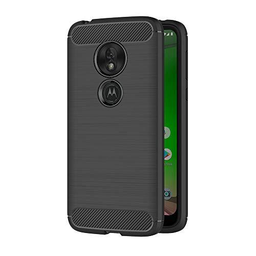 AICEK Compatible Motorola Moto G7 Play Hülle, Schwarz Silikon Handyhülle für Moto G7 Play Schutzhülle Karbon Optik Soft Case (5,7 Zoll)