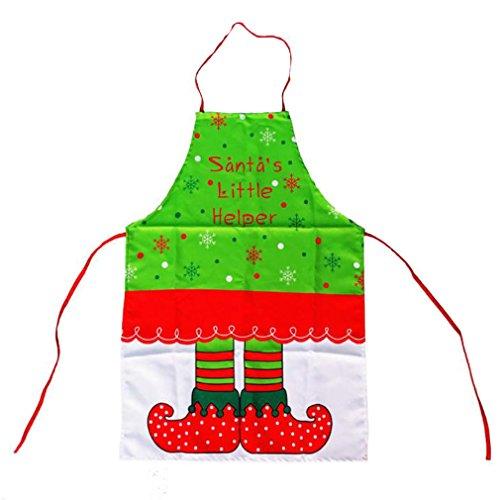 BOYANN Weihnachten Schürze Elfe Schneeflocke Weihnachtlicher Zierschmuck Lätzchen Grillschürzen Arbeitskleidung Kochschürze, Kinder