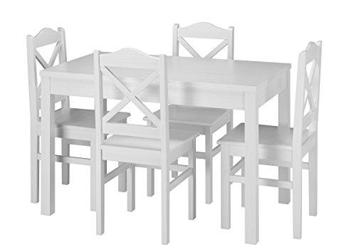 Erst-Holz® Weiße Essgruppe im Bild 2*