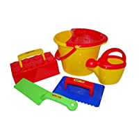 Wader Worker Bucket Set with Sand Brick Mould (6 Pieces)