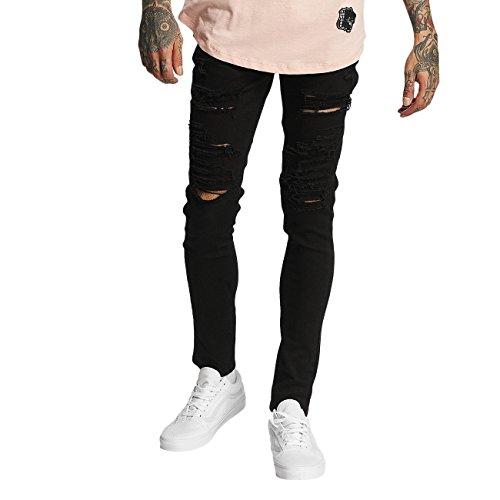 Criminal Damage Herren Jeans / Skinny Jeans Camden Schwarz