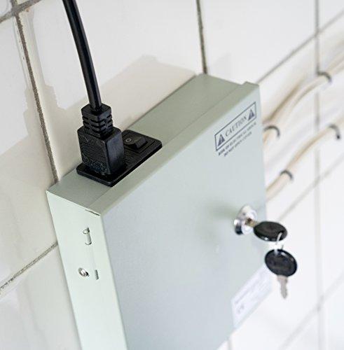 Nordstrand 9 Kanal Leistungsnetzteil für CCTV Kamera Videoüberwachung, Überwachungsanlagen, Diebstahlschutz-Anlagen - Neues Modell 2018 Mini-Größe - Ausgang 12V DC 5A