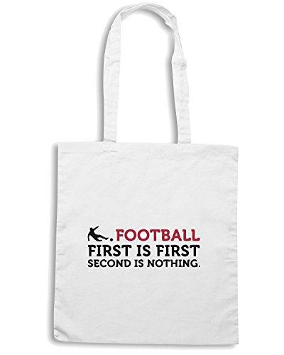 T-Shirtshock - Borsa Shopping WC0349 Football - Second is Nothing Bianco