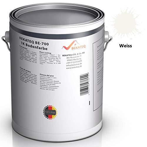 BEKATEQ BE-700 Bodenbeschichtung, 1l Weiss, Betonfarbe seidenmatt, für innen und außen