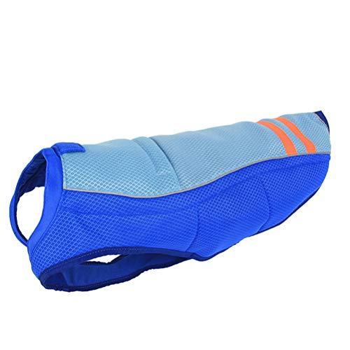 POPETPOP Sommer Haustier Hundekühlweste Outdoor Sonnencreme Mantel verhindern Sonnenstich Haustier Kleidung - Größe XS (Blau)