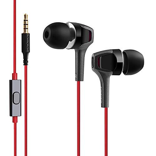 Edifier P265 écouteur Binaural avec Fil Noir, Rouge Casque et Micro - Casques et micros (avec Fil, écouteur, Binaural, Intra-Aural, 20-20000 Hz, Noir, Rouge)