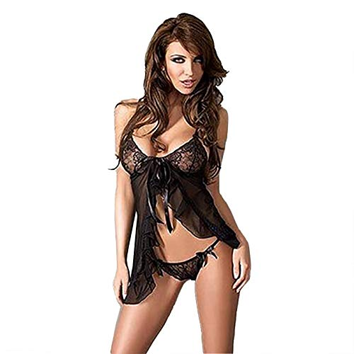 ade629a63304 Lincong Woman Lingerie Sexy Erotic Seduction Lace Open Night Dress  Transparent Sling Babydoll Babydoll Lingerie Set