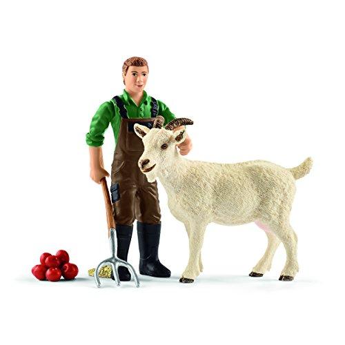 Schleich 42375 - Bauer mit Ziege Figur