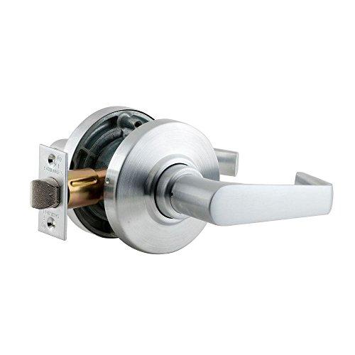Design-passage Lock (Schlage AL10S SAT 626 Series AL Grade 2 Cylindrical Lock, Passage Function, Keyless, Saturn Design, Satin Chrome Finish by Schlage Lock Company)