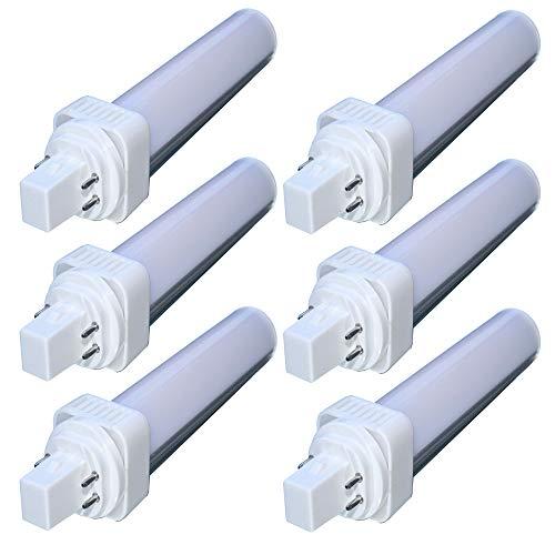 G24-led (6er G24 LED PLC Lampe 4pin Dimmbar 10W AC220-240V Neutralweiß 4000K COB 900Lumen 4-Pin 360 Grad Universal Leuchtmittel als CFL Ersatz ersetzt Osram DULUX ersetzt Philips MASTER [Energieklasse A+])