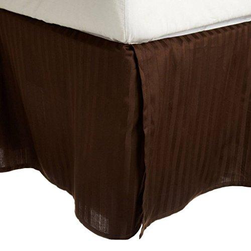 zahl, Split Ecke Bett Rock/Staub Rüsche (wählen Sie Größe und Farben) 33cm Zoll Drop Länge Ägyptische Baumwolle Falten & farbbeständig., baumwolle, schokoladenbraun, Queen ()