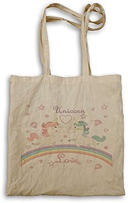 Unicornio Amor Agua Colores Novedad bolso de mano o97r
