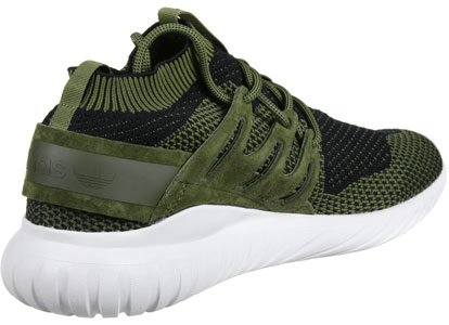 Ténis Verde Sapatos Nova Homens Adidas Sapatilha Originais Primeknit Tubular Azeite S80111 Marrom wPx0qg