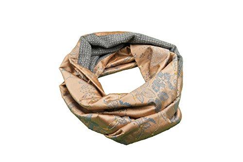 Old Fashion Sartoria, Florenz, Rundschal, Circle, Loop, Doppelseitig, Damen, Kaschmir, Seide, Orange, Grau, Unisex, One Size (Business-anzug Wolle-italienische)