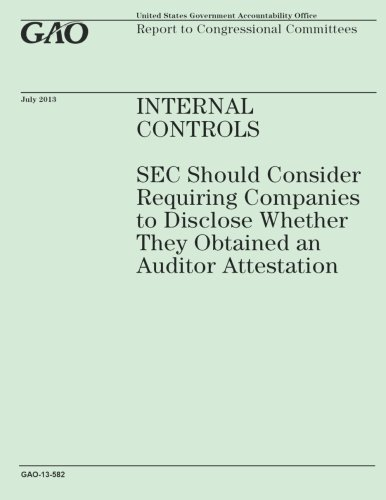Internal Controls: SEC Should Consider Requiring Companies to Disclose Wether They Obtained an Auditor Attestation por Government Accountability Office