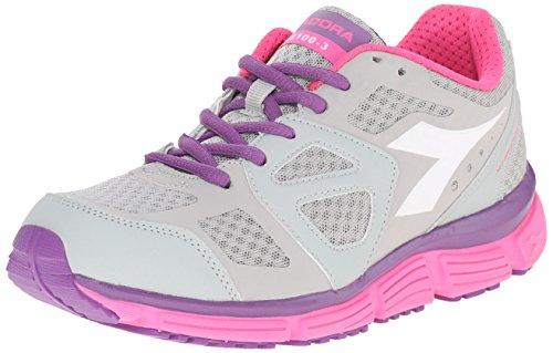 Diadora - N-5100-3 W, Sneaker Donna Grigio chiaro/Bianco