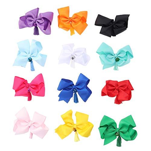 Lurrose 12pcs Big Hair Bow Clips Haarspangen Jingle Bells Quasten Hair Pin ()