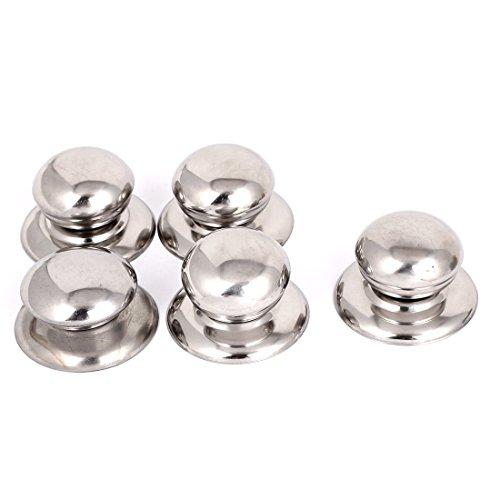 sourcingmap® Metal Cookware Pan Pot Glass Lid Cover Handle Knob Handgrip Grip 5pcs