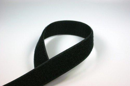 25m Rolle Alfagrip back to back Klettband, 30mm breit, schwarz
