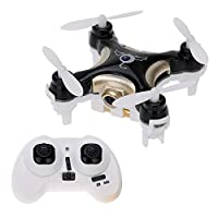 Newest Cheerson CX-10C CX10C Mini FPV Quadcopter 2.4G 4CH 6 Axis Gryo 0.3MP Camera RC Drone With LED RTF (Black) by Unipro tek