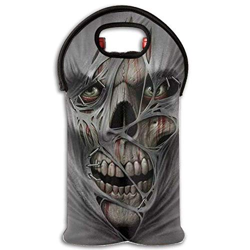 Skeleton Logo Double Foldable Wine Tote Bag Multicolor10 -