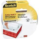 Scotch 4301TRP - Pack de 8 cintas antideslizante (4.5 m x 25 mm) transparente