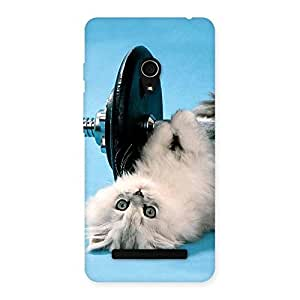 Stylish Fit Cat Multicolor Back Case Cover for Zenfone 5