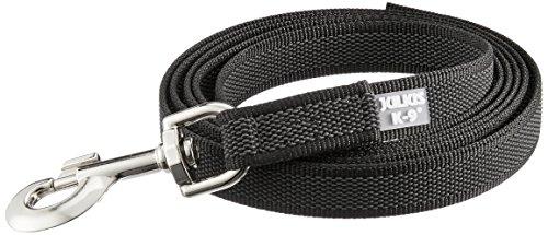 Artikelbild: JULIUS-K9, 216GM-2 Color & Gray gumierte Leine, 20 mm x 2 m ohne Schlaufe, maximal für 50 kg Hunde, schwarz-grau