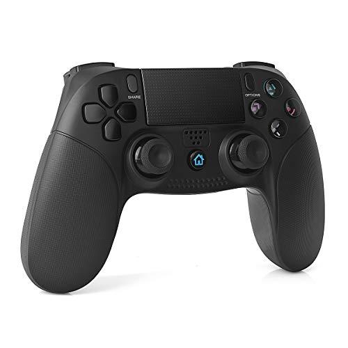 TUTUO Manette pour PS4, Bluetooth Vibration Feedback Manette de Jeu avec USB Rechargeable, Contrôleur de Jeu sans Fil Wireless Gamepad pour Playstation 4