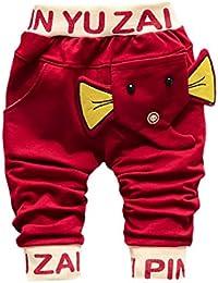 Ropa De Bebe, BBsmile Pantalones Infantiles De La Elefante ImpresióN De La Historieta De Los BebéS Del Niño Trajes Ropa Niños Para 1-4 Años