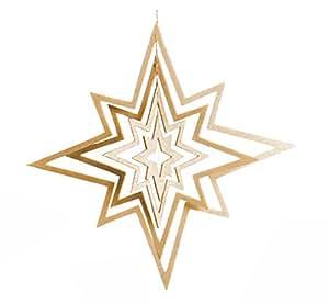 décoration de noel, ciel étoilé, Grande étoile en bois
