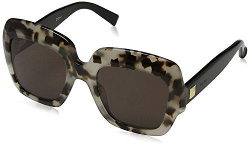 Max mara mm prism vi 70 boa 52, occhiali da sole donna, oro (ivory gd havana/brown)
