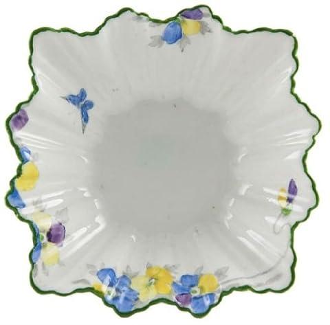 Art Deco elegante Zuckerdose Blumen Sutherland Serving Grüne Porzellan Vintage-Englisch 1930 LS