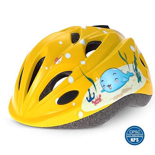 Odoland Casco per Bambini, Casco per Bici per Bambini, Caschi Bici per Bambini Regolabile e Durevole, Certificato CPSC, Ideale per Ciclismo, Skateboard, Hoverboard, Scooter e Pattinaggio