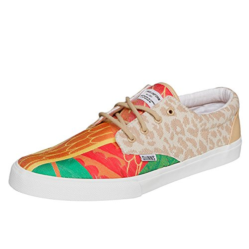 Djinns Homme Chaussures / Baskets Crazy Pattern Rouge
