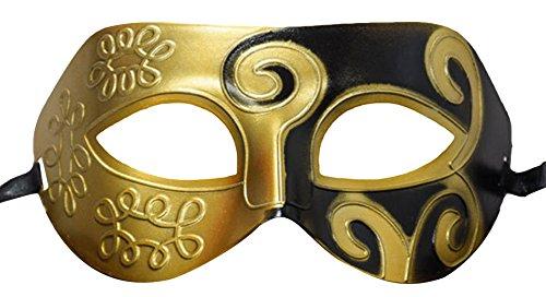 cht Venetianische Maskerade Maske Halloween Karneval Ritter Kostüm Masquerade Mask Partei Color 3 (Herren Masquerade Masken)