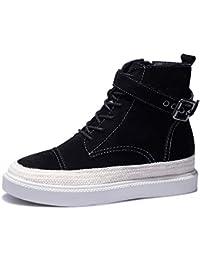SimpleC Botas De Mujer De Moda Botines Invierno Zapatos Nieve Forradas Calientes Planas Martin Boots
