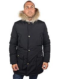 1st American Parka Hombre- Chaqueta Invierno con Capucha y Pelo Real - Abrigo Ultra Caliente