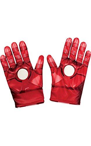Rubie 's Offizielles Marvel Avengers Assemble Iron Man Handschuhe, Kind Kostüm–EINE (Kostüm Man Iron Zubehör)