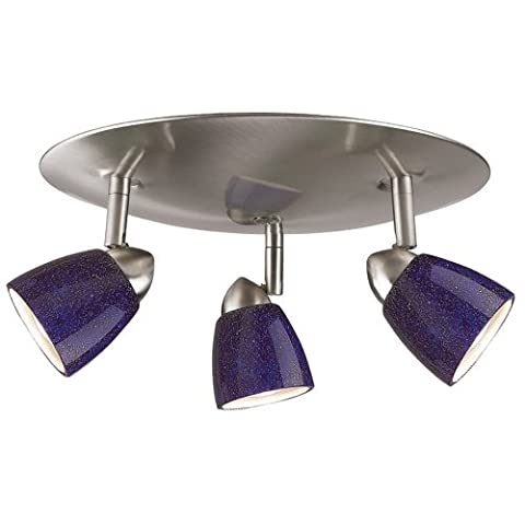 Cal Lighting SL-954-3R-WHBLS Spot Light with Cobalt Blue Shades, White Finish by Cal
