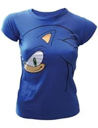 SONIC - T-Shirt Big Face Blue GIRLS (XL)