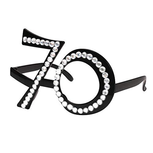 Non-brand Gafas Cumpleaños 21/70 / 80 Lentes Divertidas
