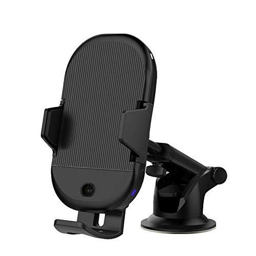 Preisvergleich Produktbild WANGKM Drahtlose Ladehalterung Automatisches Öffnen und Schließen Handyhalterung Saugnapf-Luftauslass Dual-Use-Kit Ladegerät Infrarot-Induktions-Teleskop