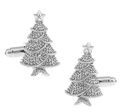 Ashton and Finch Boutons de Manchette Sapin de Noël dans Une boîte de présentation de Gratuite. Nouveauté Noël Thème Bijoux
