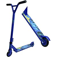 Freestyle Pro Stunt Scooter 360 Degree Trick - Fixed Bar Steel Frame - Lightweight Aluminium Deck - ABEC 7 Bearings - For Kids and Adults