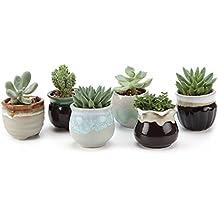 T4U 6.5CM set of 6 Flowing Smalto Ceramica Vaso di Fiori Pianta Succulente Cactus Vaso di Fiorigiardino i vasi di fiori vasi di piante.