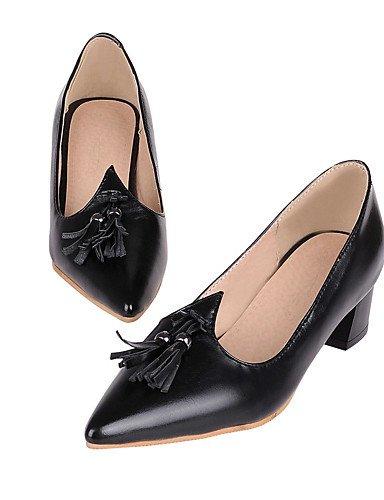 WSS 2016 Chaussures Femme-Bureau & Travail / Habillé / Décontracté-Noir / Rose / Blanc-Gros Talon-Talons / Bout Pointu / Escarpin Basique-Talons- black-us9.5-10 / eu41 / uk7.5-8 / cn42