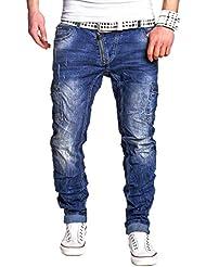 MT Styles Side-Zip Jeans Slim Fit pantalon RJ-2222